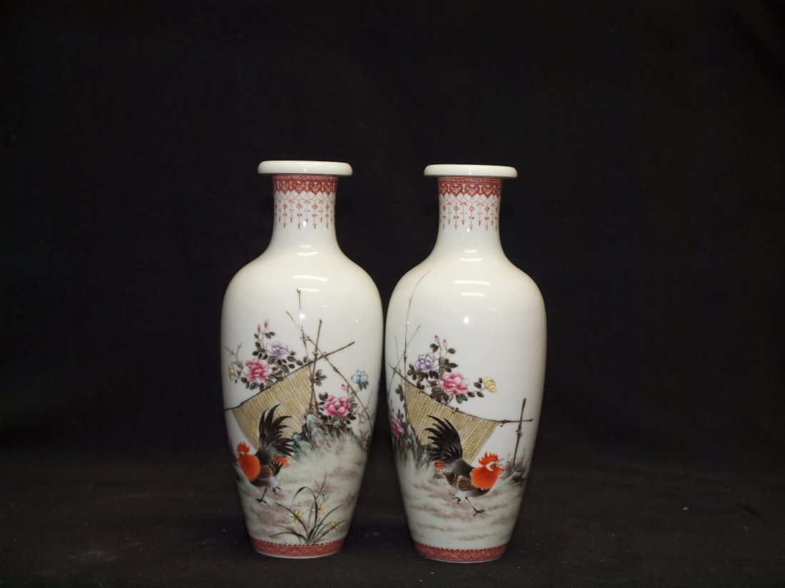 Pair on Limited Edition Vase By Jing De Zhen