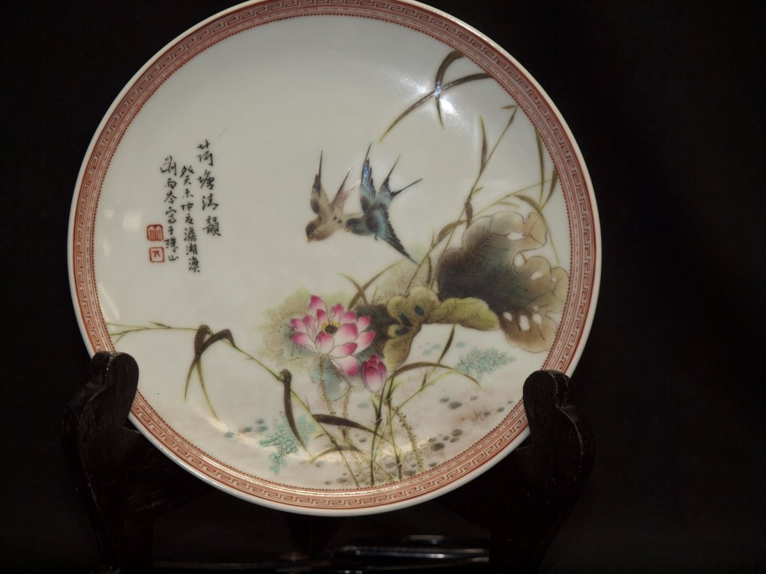 Birds and Flower Plate