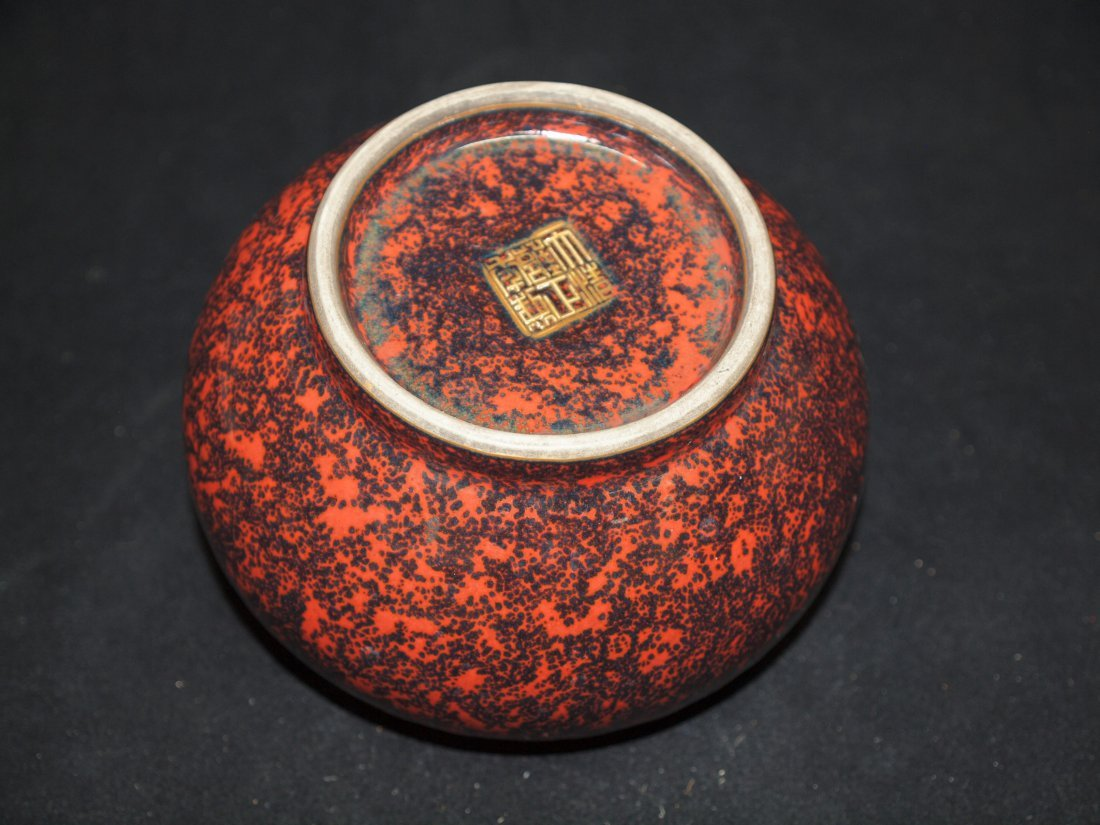 Red Glazed with Brown spots - 2
