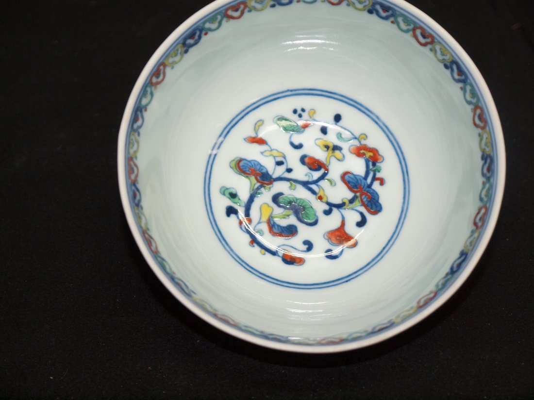 Doucai Bowl with Marking - 2