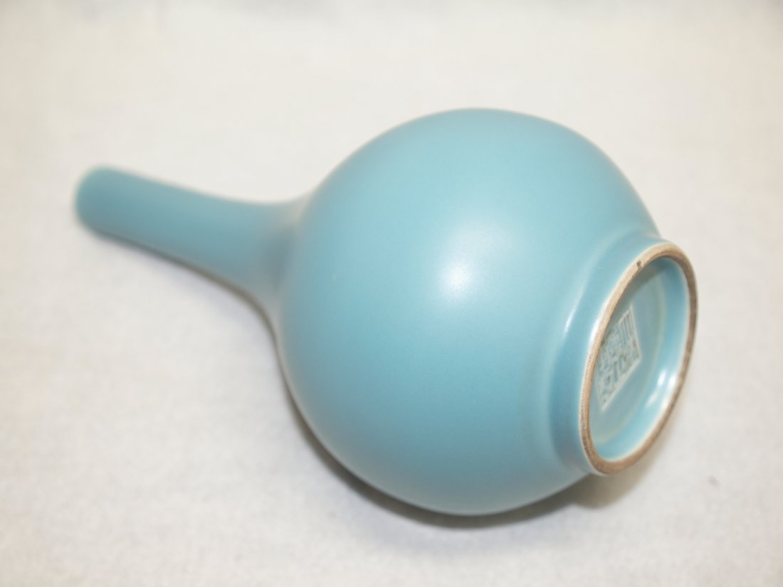Blue Long Neck Vase - 2