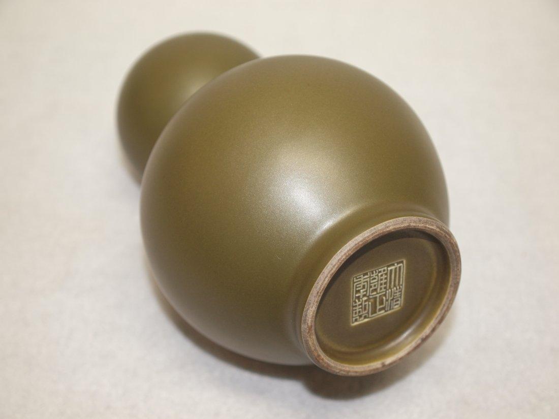 Tea Green colour Cabash-Shape Vase - 3
