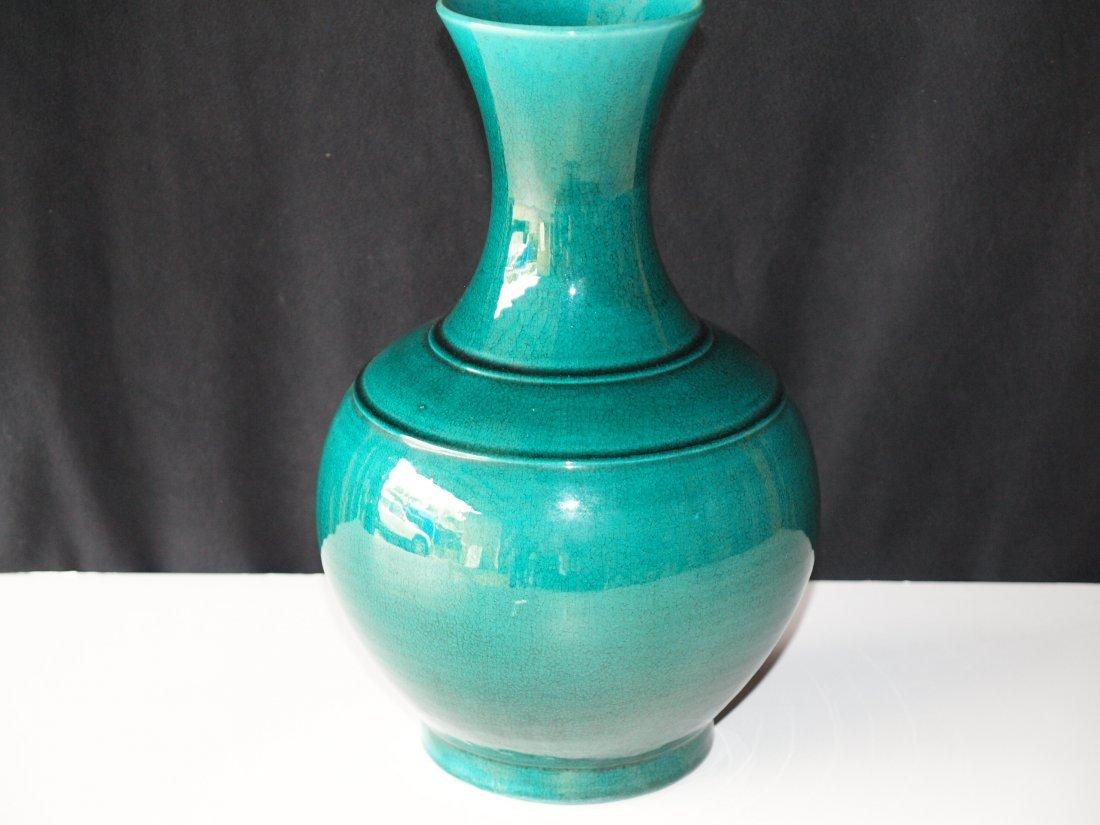 Enamel Green vase