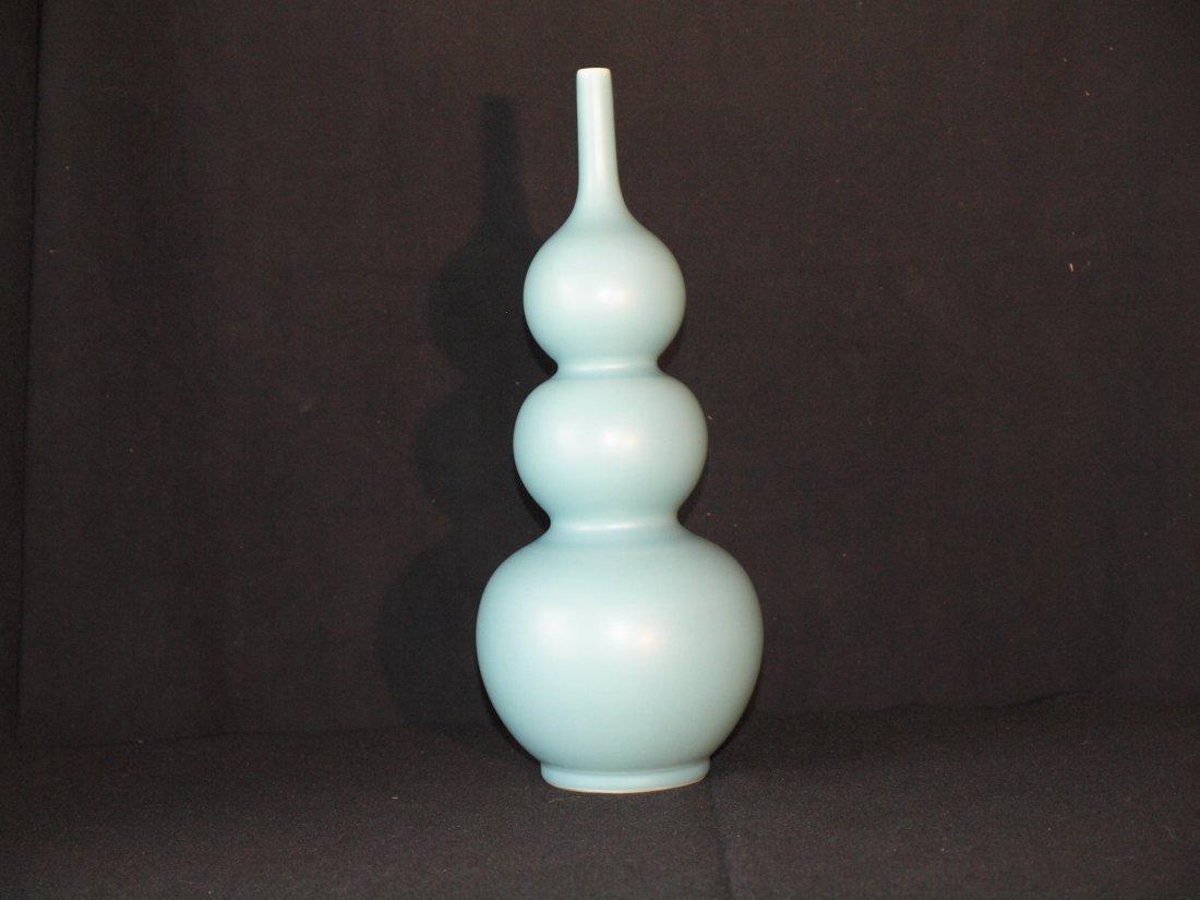 Blue  Vase with Marking - 2