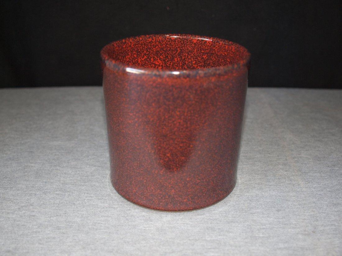 Copper Brown Brush Holder