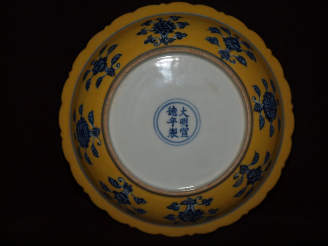 Plate With Yellow Background & Dragons - 3