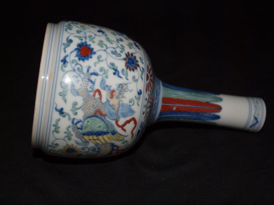 Famille Vase with Flat Bottom
