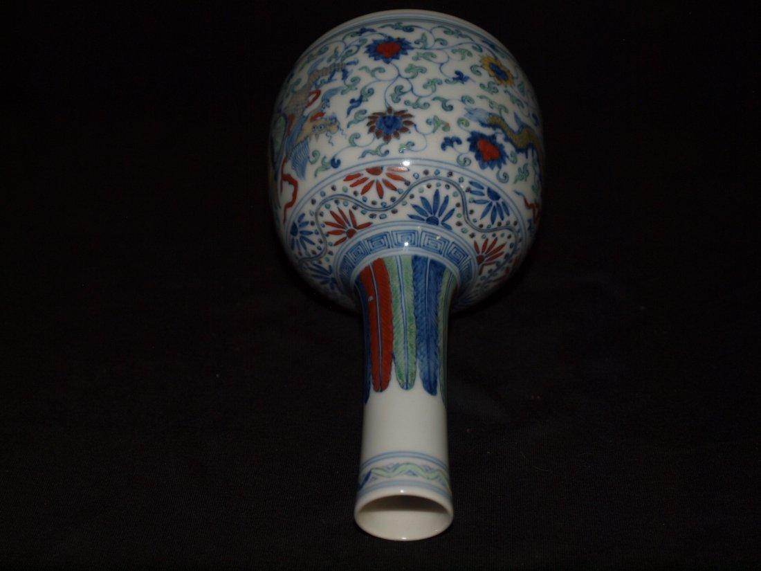 Famille Vase with Flat Bottom - 2