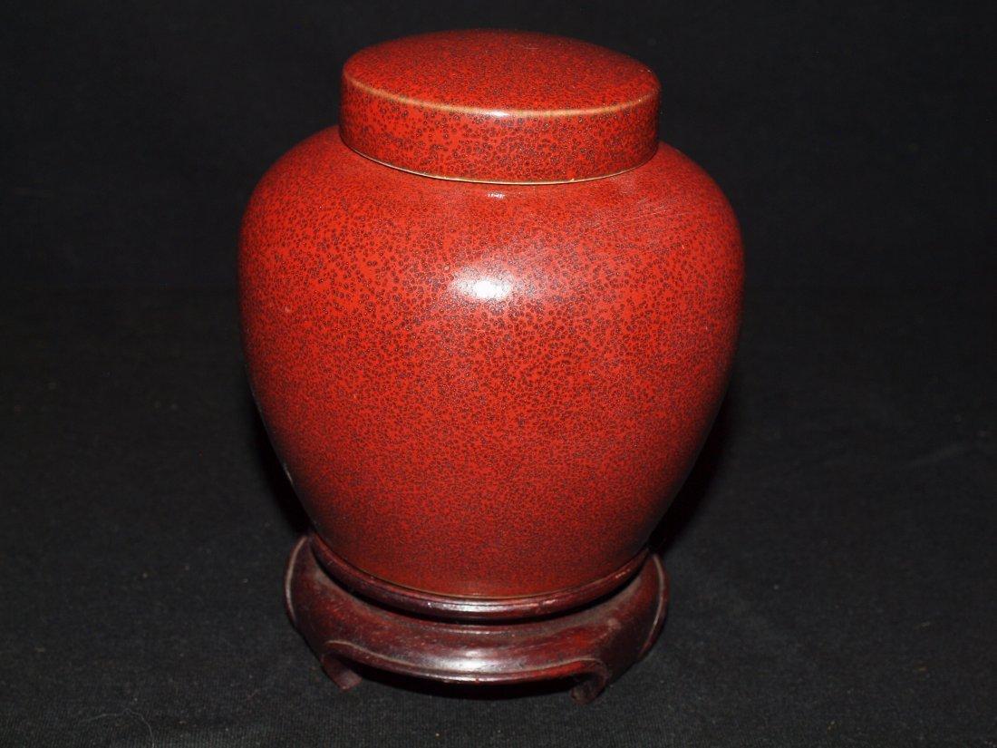 Red Colour Ginger Jar
