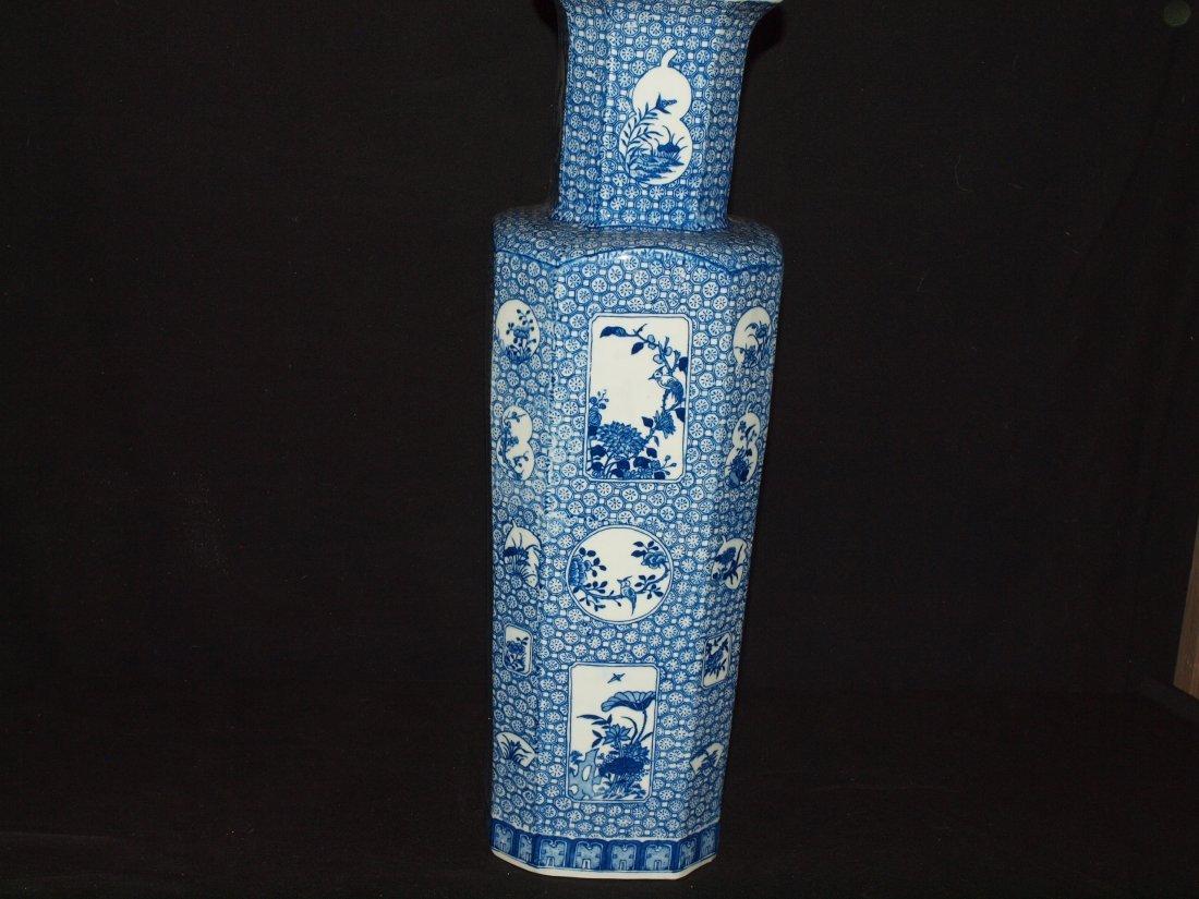 Blue & White Square Vase