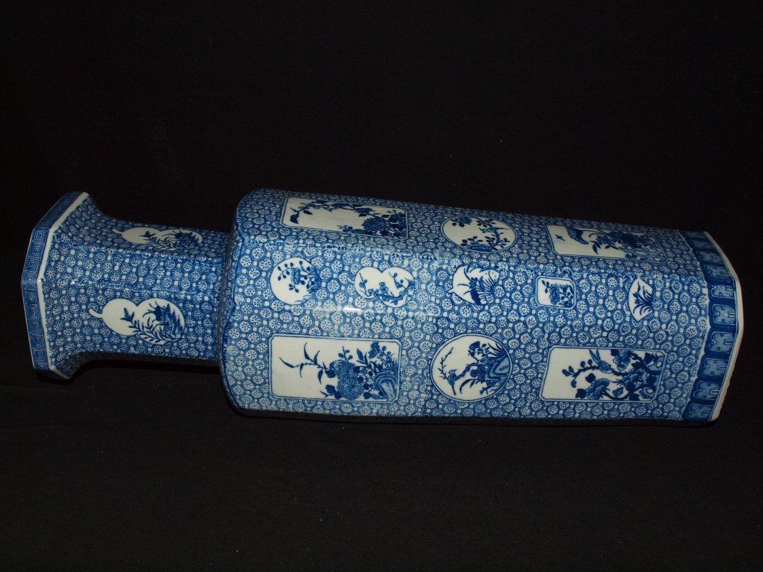 Blue & White Square Vase - 2