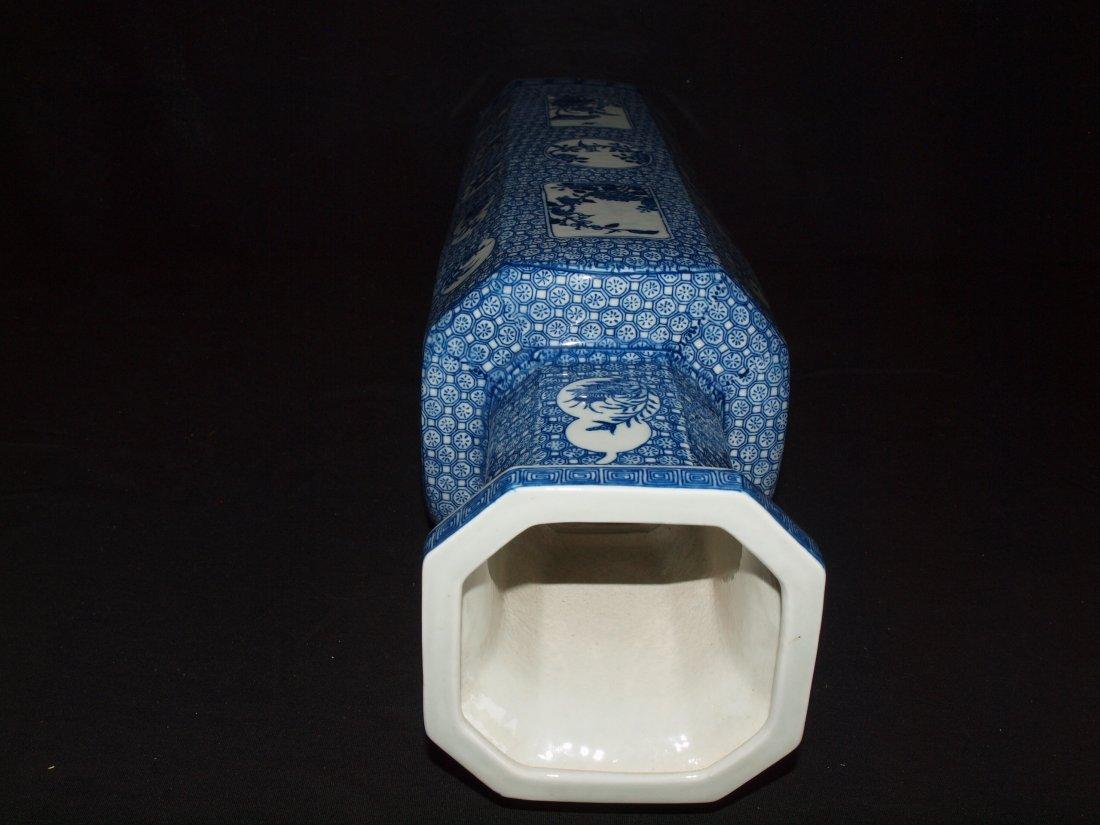 Blue & White Square Vase - 3