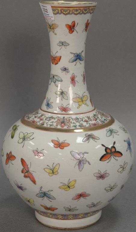 Porcelain Butterfly Bottle Vase