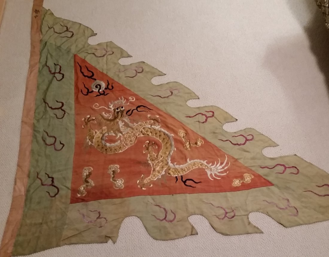A Rare Chinese Embroidered Military Banner