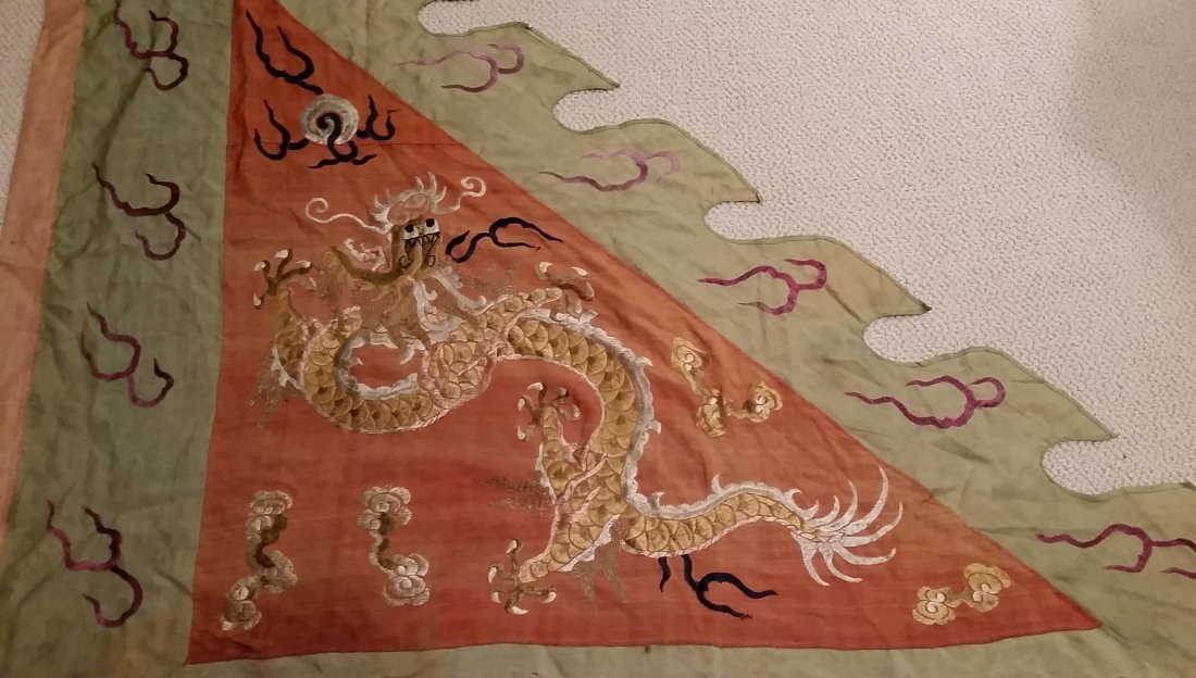 A Rare Chinese Embroidered Military Banner - 4