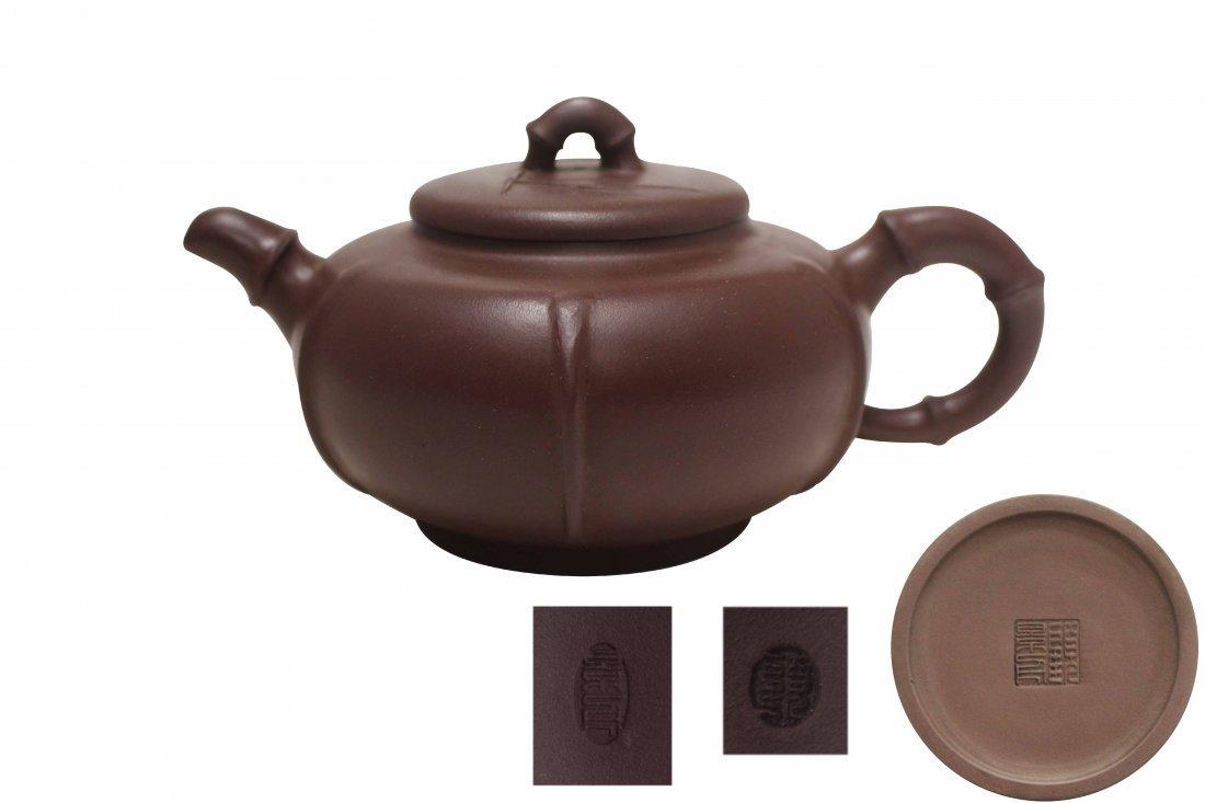 A Purple Sand Tea Pot