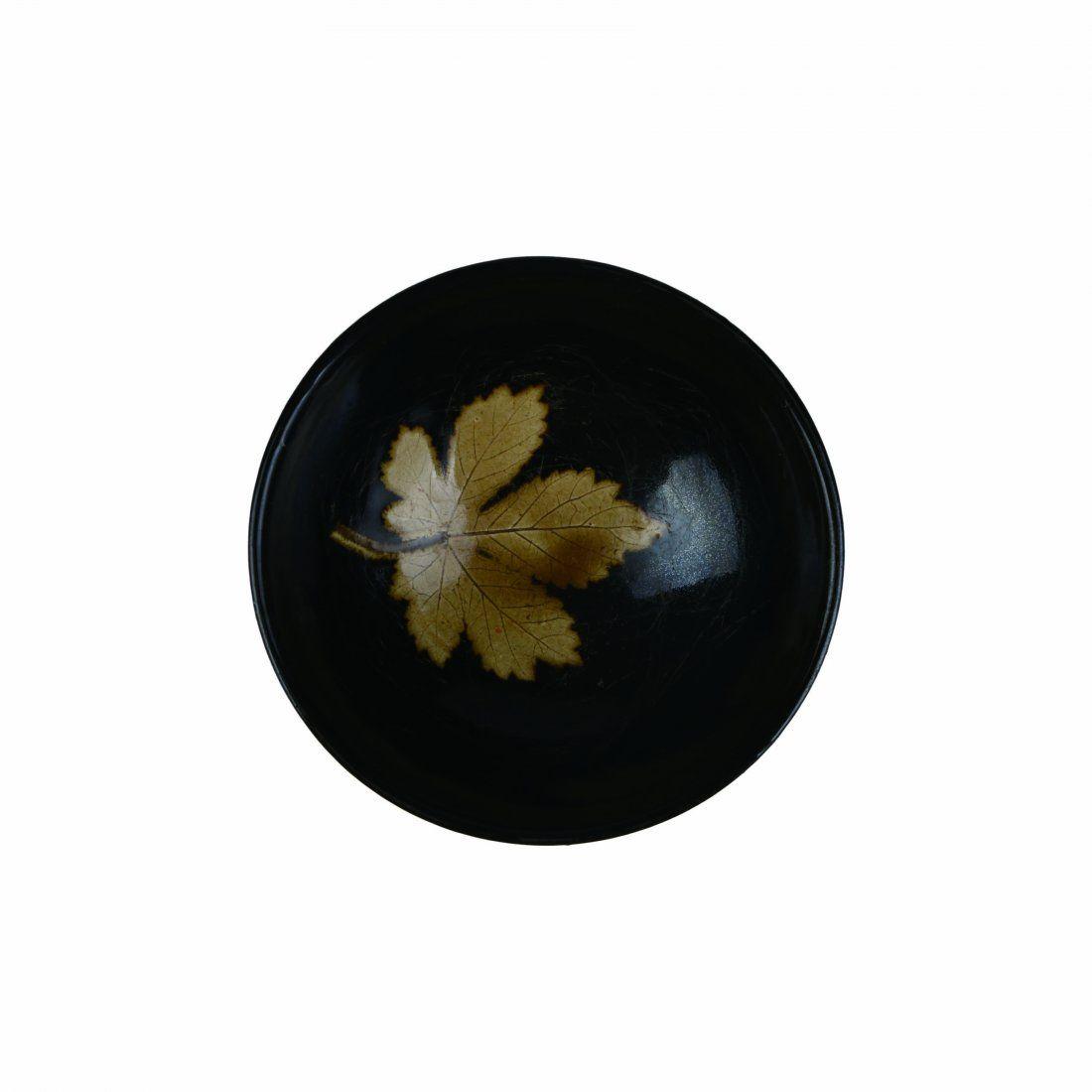 A 'Jizhou' Black-Glazed Wooden Leave Dish