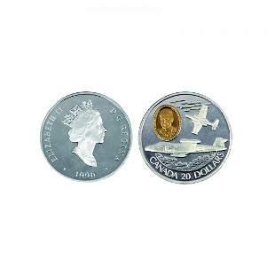 A Gilt-Silver Commerotive Coin