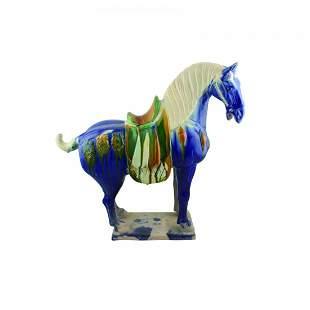 A San Cai Horse Tile