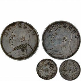 A Pair of Yuan Silver Coins Early 20th Centuary