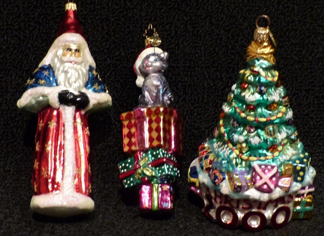 Christopher Radko Ornaments (3)