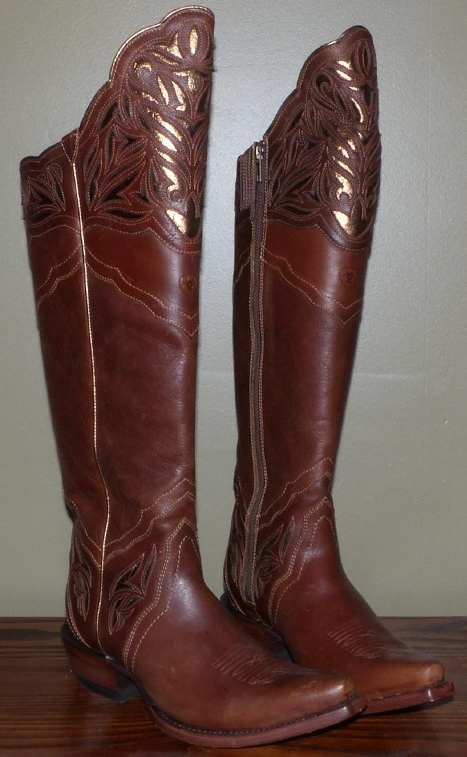 Ariat Knee High Western Boots Womens Size 7 1/2