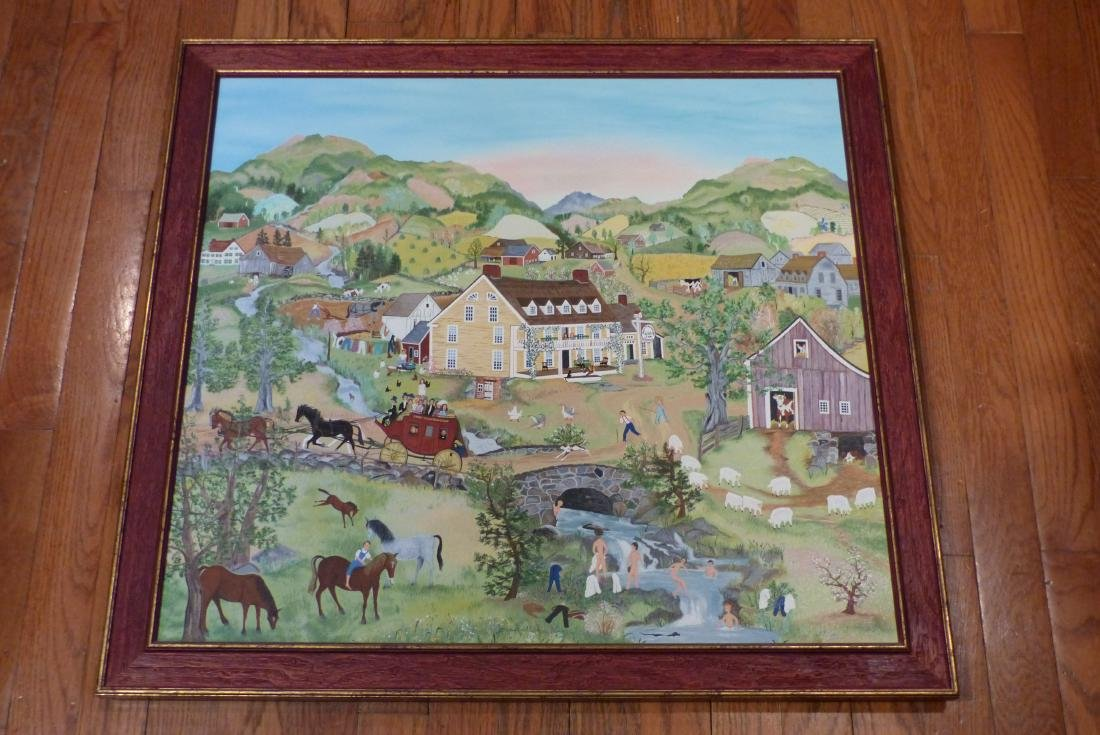 Will Moses Springtime in Bullfrog Hollow Canvas