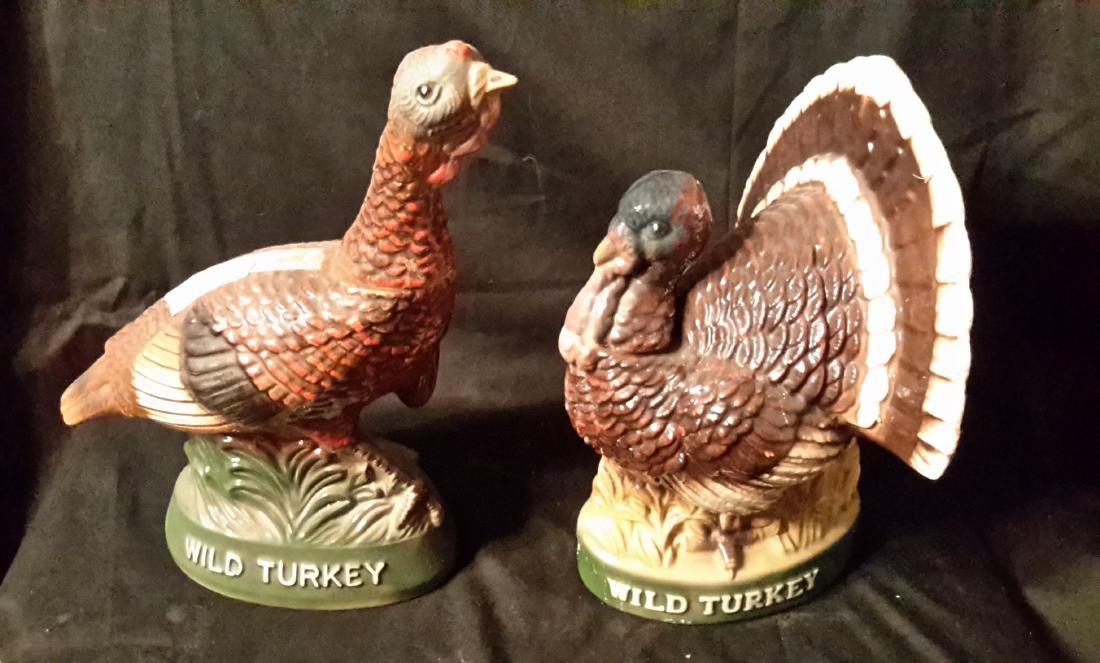 Wild Turkey Decanters (2)
