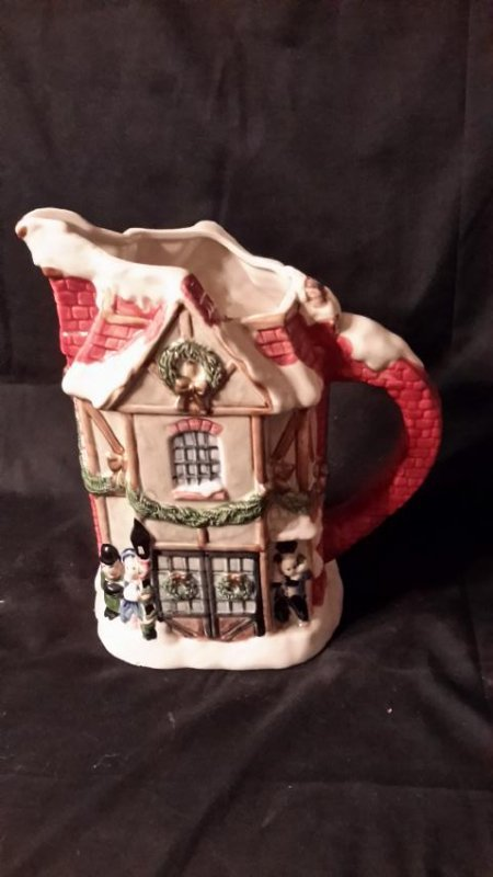 Fitz and Floyd Christmas Pitcher