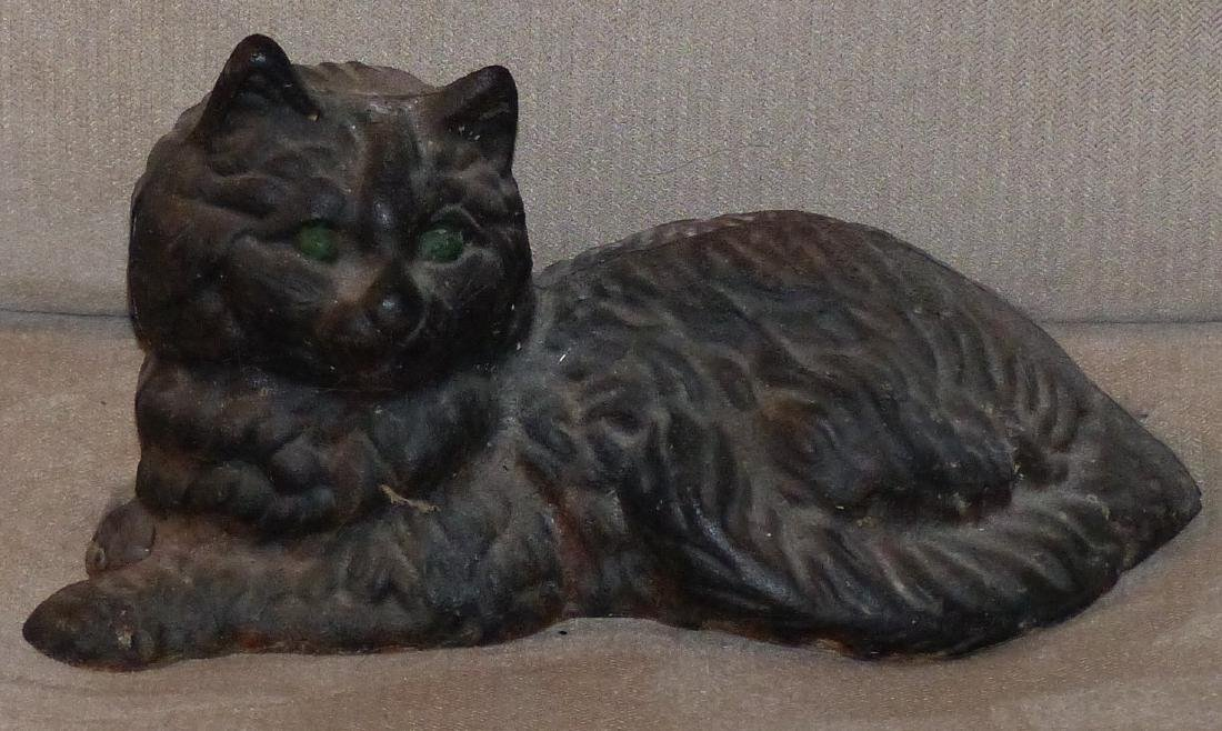 "Cast Iron Cat Sitting 9"""
