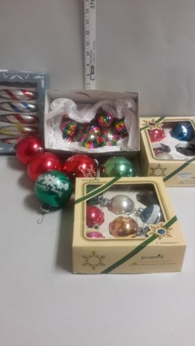 Assorted Vintage & New Christmas Ornaments