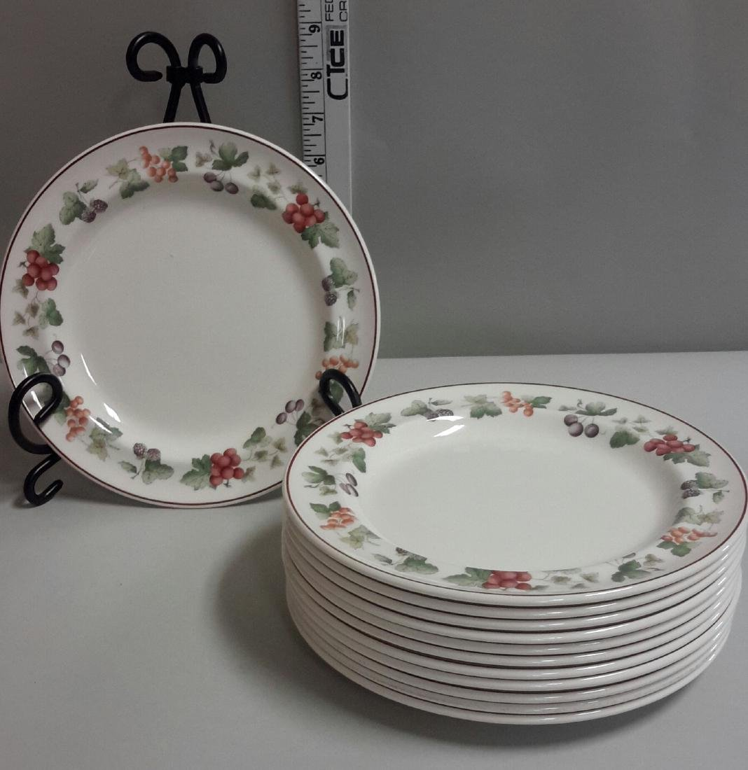 Wedgwood Queen's Ware Provence 11 Plates, 10.5 inches