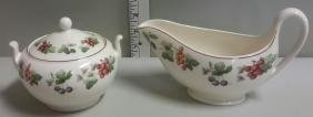 Wedgwood Queen's Ware Provence Cream and Sugar