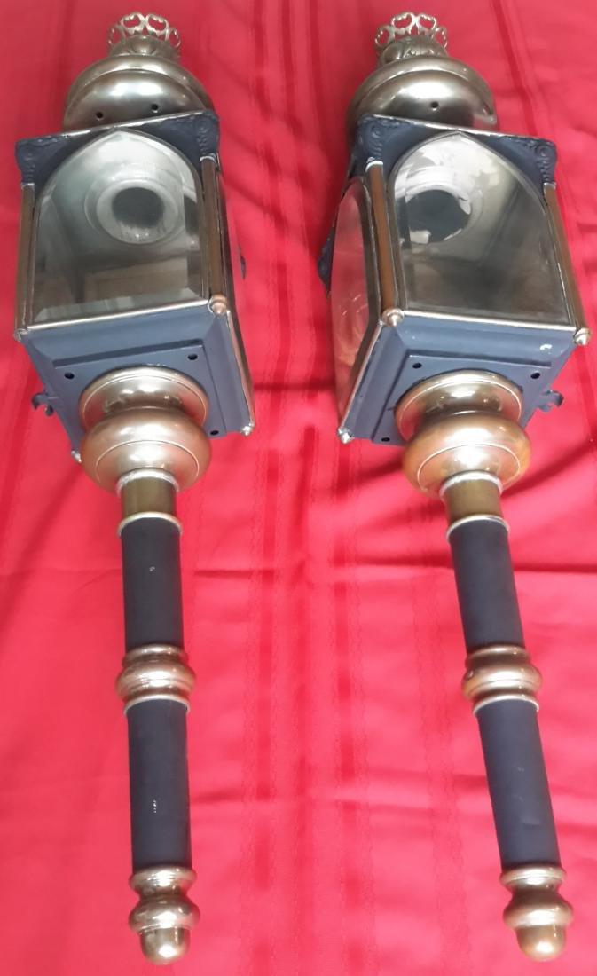 Hearse Carriage Kerosene Lanterns (2)