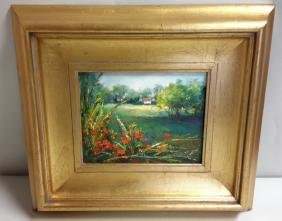Christane David floral iris oil on canvas