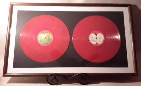 Beatles:1962-1966 LP Red No Cover Framed