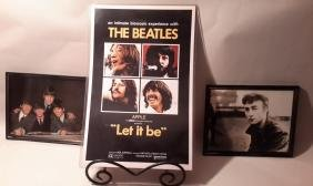 Beatles  Framed Picture, Movie poster Let it Be, John