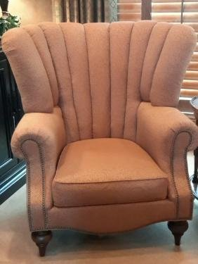 Tufted Henredon Winged Chair