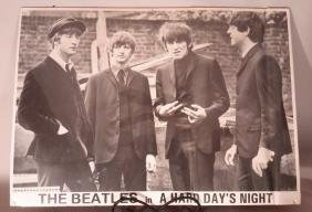 Beatles Poster Hard Day's Night (creased)