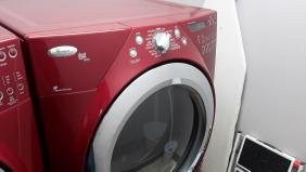 Red Dryer Whirlpool Duet Steam Front Load with Stand