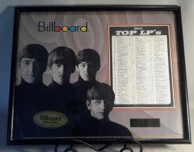 Beatles Billboard TOP LPS Feb. 15, 1964 Framed