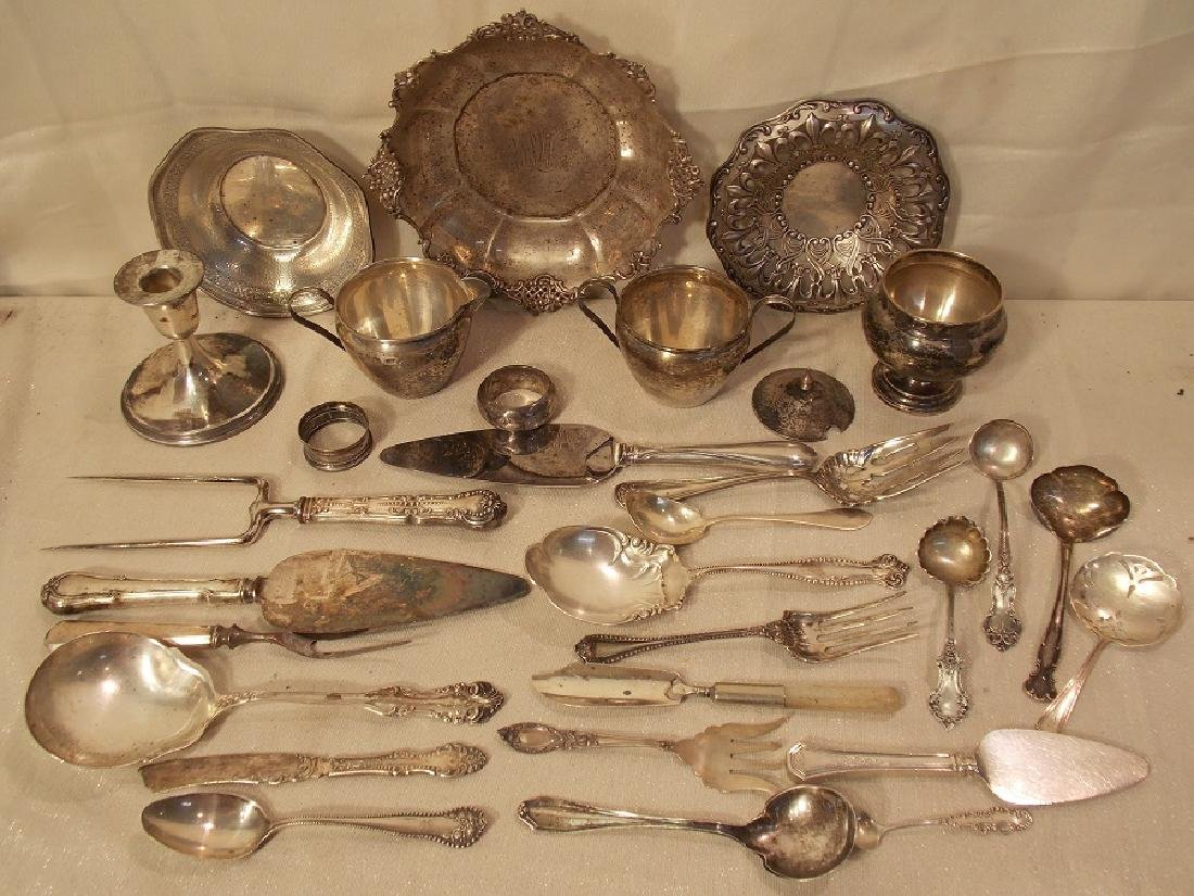 LOT ASSORTED STERLING SILVER TABLEWARE