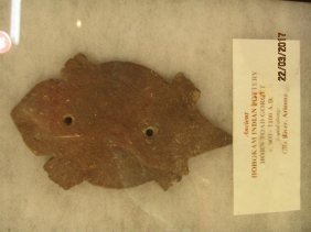 ANCIENT INDIAN POTTERY TOAD GORGET