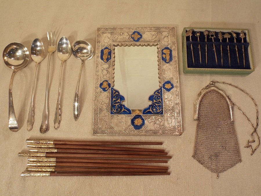 LOT ASSORTED SILVER ITEMS