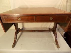 ANTIQUE SHERATON DROP LEAF SOFA TABLE
