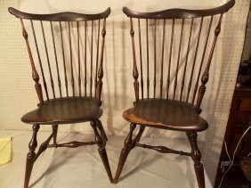 PAIR WALLACE NUTTING WINDSOR CHAIRS