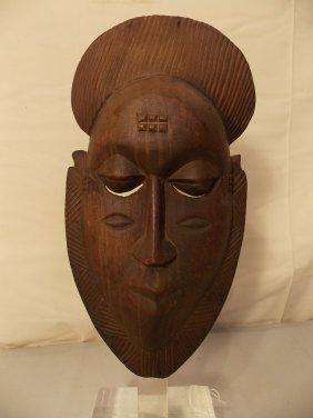 OLD CARVED WOOD AFRICAN MASK
