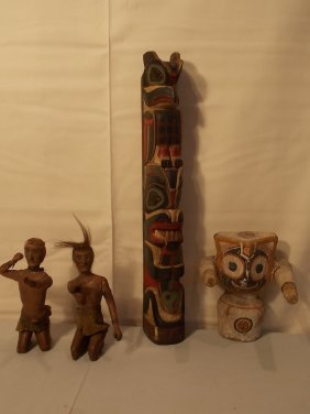 4 OLD NORTHWEST INDIAN ITEMS