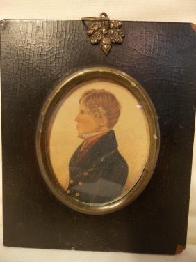 CA 1820 MINIATURE PORTRAIT GENTLEMAN