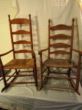 2 EARLY AMERICAN ARMCHAIR ROCKERS